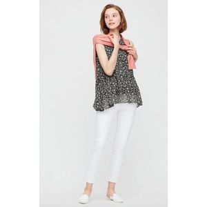 UNIQLO Joy of Print Chiffon Sleeveless Blouse Larg